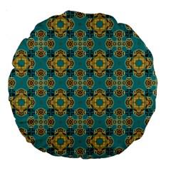 Vintage Pattern Unique Elegant Large 18  Premium Round Cushions by BangZart