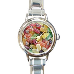 Jelly Beans Candy Sour Sweet Round Italian Charm Watch by BangZart
