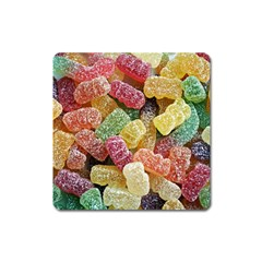 Jelly Beans Candy Sour Sweet Square Magnet by BangZart