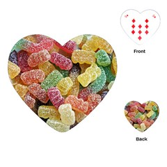 Jelly Beans Candy Sour Sweet Playing Cards (heart)
