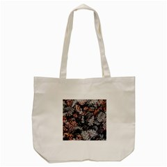 Leaf Leaves Autumn Fall Brown Tote Bag (cream) by BangZart