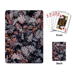 Leaf Leaves Autumn Fall Brown Playing Card by BangZart