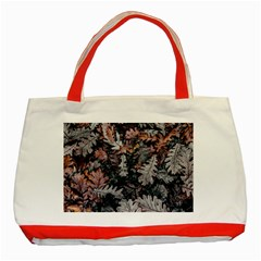 Leaf Leaves Autumn Fall Brown Classic Tote Bag (red) by BangZart