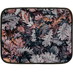 Leaf Leaves Autumn Fall Brown Double Sided Fleece Blanket (mini)