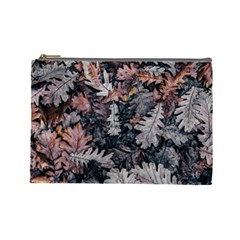 Leaf Leaves Autumn Fall Brown Cosmetic Bag (large)  by BangZart