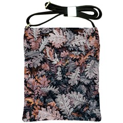 Leaf Leaves Autumn Fall Brown Shoulder Sling Bags by BangZart