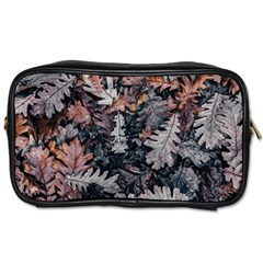 Leaf Leaves Autumn Fall Brown Toiletries Bags 2 Side by BangZart