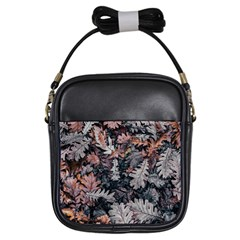 Leaf Leaves Autumn Fall Brown Girls Sling Bags by BangZart