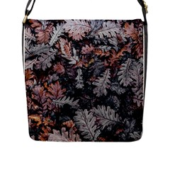 Leaf Leaves Autumn Fall Brown Flap Messenger Bag (l)  by BangZart
