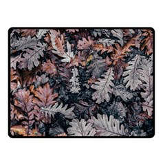 Leaf Leaves Autumn Fall Brown Double Sided Fleece Blanket (small)  by BangZart