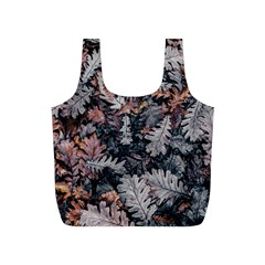 Leaf Leaves Autumn Fall Brown Full Print Recycle Bags (s)