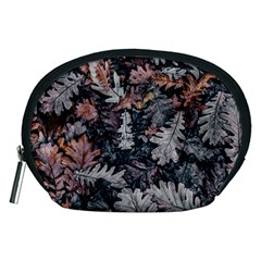 Leaf Leaves Autumn Fall Brown Accessory Pouches (medium)  by BangZart