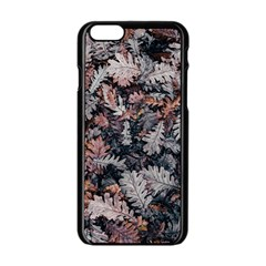 Leaf Leaves Autumn Fall Brown Apple Iphone 6/6s Black Enamel Case by BangZart