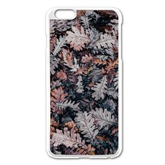 Leaf Leaves Autumn Fall Brown Apple Iphone 6 Plus/6s Plus Enamel White Case