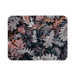 Leaf Leaves Autumn Fall Brown Double Sided Flano Blanket (mini)  by BangZart