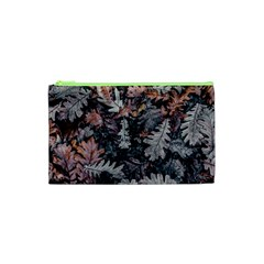 Leaf Leaves Autumn Fall Brown Cosmetic Bag (xs) by BangZart