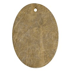 Abstract Forest Trees Age Aging Ornament (oval)