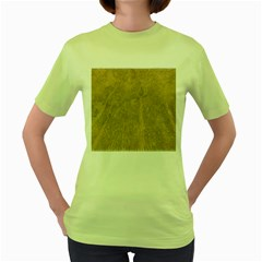 Abstract Forest Trees Age Aging Women s Green T Shirt
