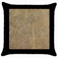 Abstract Forest Trees Age Aging Throw Pillow Case (black) by BangZart