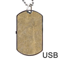 Abstract Forest Trees Age Aging Dog Tag Usb Flash (two Sides) by BangZart