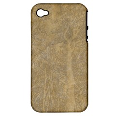 Abstract Forest Trees Age Aging Apple Iphone 4/4s Hardshell Case (pc+silicone)