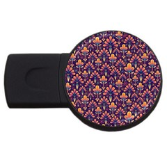 Abstract Background Floral Pattern Usb Flash Drive Round (2 Gb) by BangZart
