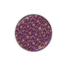 Abstract Background Floral Pattern Hat Clip Ball Marker by BangZart