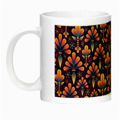 Abstract Background Floral Pattern Night Luminous Mugs by BangZart