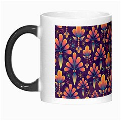 Abstract Background Floral Pattern Morph Mugs by BangZart
