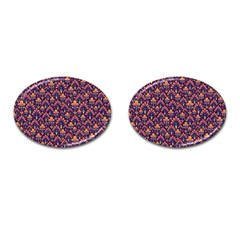 Abstract Background Floral Pattern Cufflinks (oval)