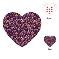 Abstract Background Floral Pattern Playing Cards (heart)  by BangZart