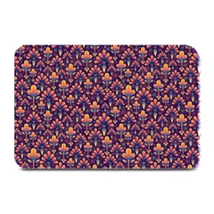 Abstract Background Floral Pattern Plate Mats