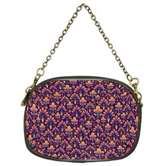 Abstract Background Floral Pattern Chain Purses (one Side)  by BangZart
