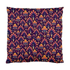 Abstract Background Floral Pattern Standard Cushion Case (two Sides)