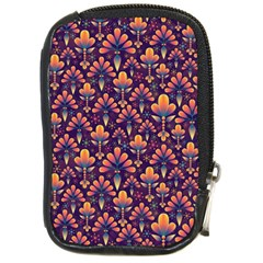 Abstract Background Floral Pattern Compact Camera Cases by BangZart
