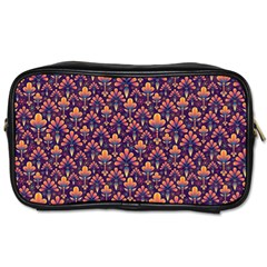 Abstract Background Floral Pattern Toiletries Bags 2 Side by BangZart