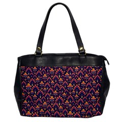 Abstract Background Floral Pattern Office Handbags by BangZart