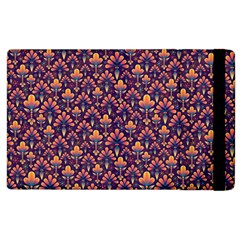 Abstract Background Floral Pattern Apple Ipad 2 Flip Case by BangZart
