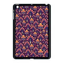 Abstract Background Floral Pattern Apple Ipad Mini Case (black) by BangZart