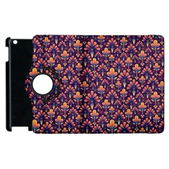 Abstract Background Floral Pattern Apple Ipad 3/4 Flip 360 Case by BangZart