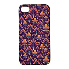 Abstract Background Floral Pattern Apple Iphone 4/4s Hardshell Case With Stand by BangZart