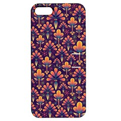 Abstract Background Floral Pattern Apple Iphone 5 Hardshell Case With Stand by BangZart