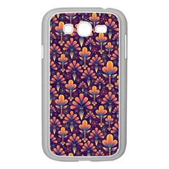 Abstract Background Floral Pattern Samsung Galaxy Grand Duos I9082 Case (white) by BangZart
