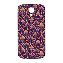 Abstract Background Floral Pattern Samsung Galaxy S4 I9500/i9505  Hardshell Back Case