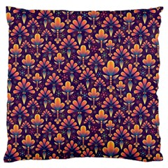 Abstract Background Floral Pattern Standard Flano Cushion Case (one Side) by BangZart