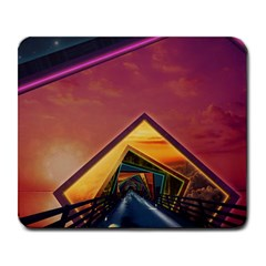 The Rainbow Bridge Of A Thousand Fractal Colors Large Mousepads by jayaprime