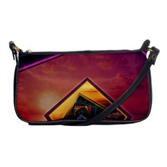 The Rainbow Bridge Of A Thousand Fractal Colors Shoulder Clutch Bags by beautifulfractals