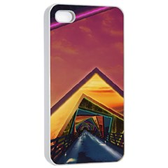 The Rainbow Bridge Of A Thousand Fractal Colors Apple Iphone 4/4s Seamless Case (white) by beautifulfractals