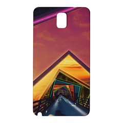 The Rainbow Bridge Of A Thousand Fractal Colors Samsung Galaxy Note 3 N9005 Hardshell Back Case by beautifulfractals