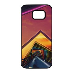 The Rainbow Bridge Of A Thousand Fractal Colors Samsung Galaxy S7 Edge Black Seamless Case by beautifulfractals